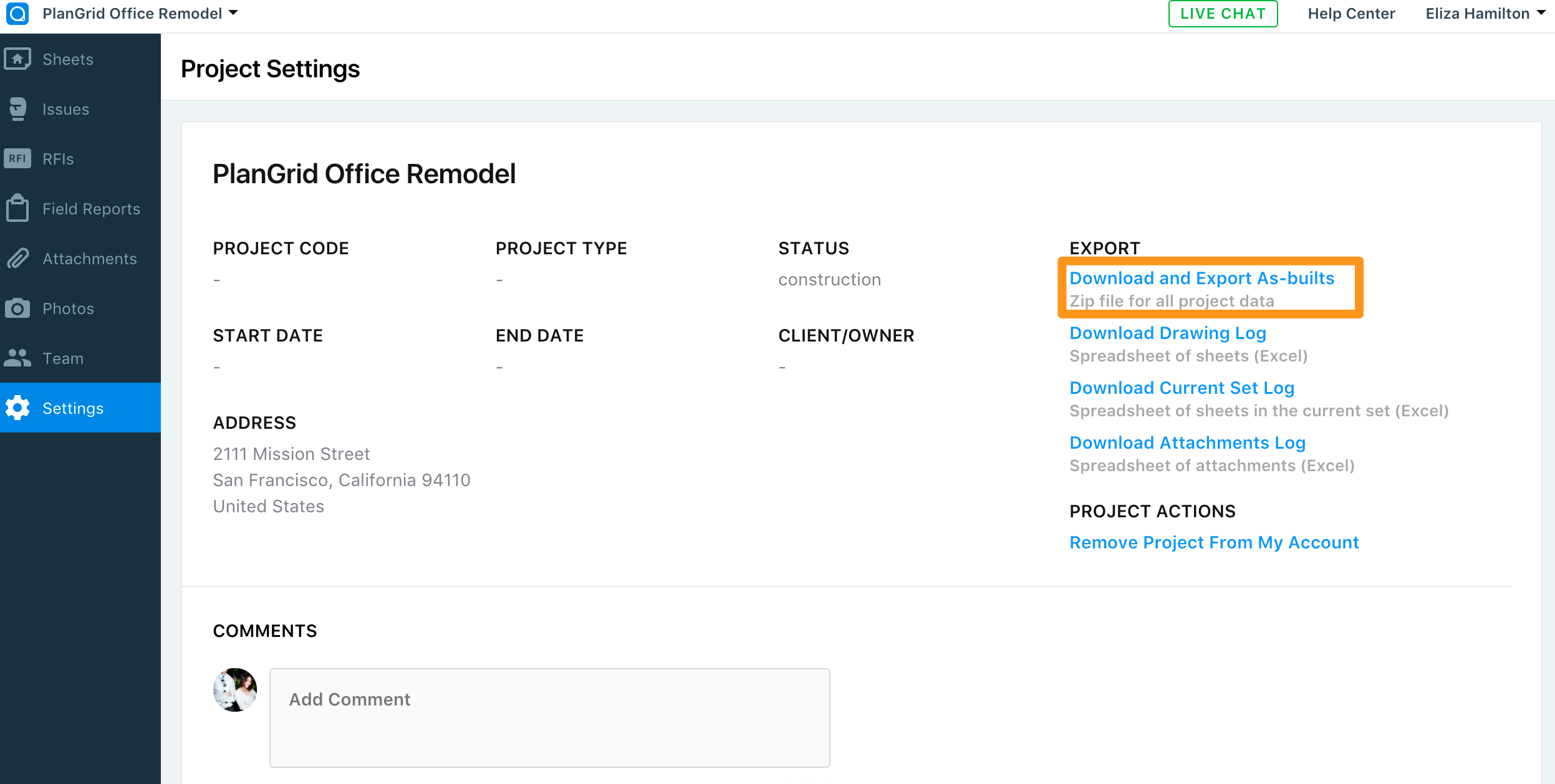 Export, Download & Print Field Reports on Web – PlanGrid