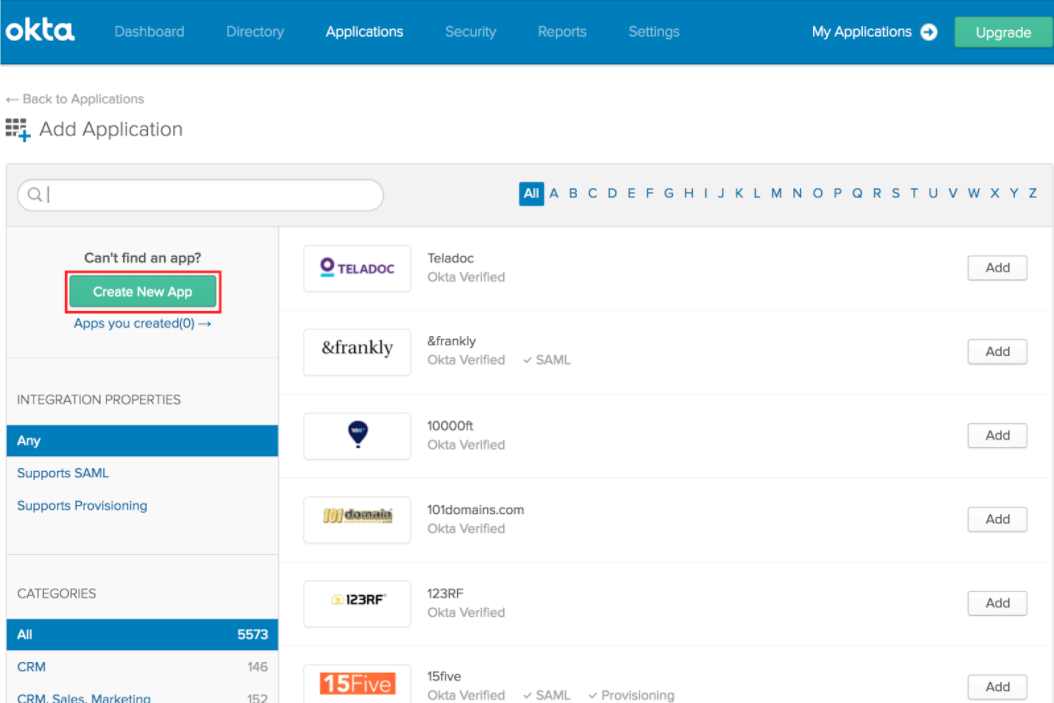 SSO Integration with Okta – PlanGrid