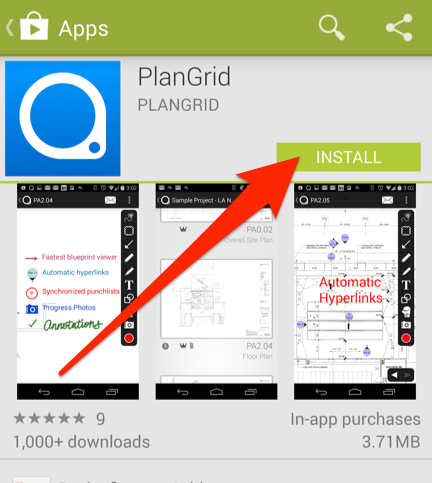 Mobile managing the plangrid app on my device plangrid ios android malvernweather Image collections